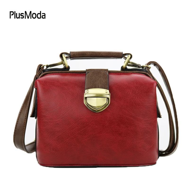 2017 New Retro Handbag Tote Purse Vintage Shoulder Bag Women Crossbody Bags Doctor Bag Women Messenger Bags Shoulder Handbags new arrival lace bucket handbag ladies solid shoulder bags tote purse satchel bag cross body women messenger bags vintage 2016