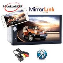 Новый 2 Дин 7 »дюймовый LCD Сенсорный экран магнитофон магнитола автомобиль радио-плеер поддержка 5 Языков Меню BLUETOOTH hands free камера заднего вида