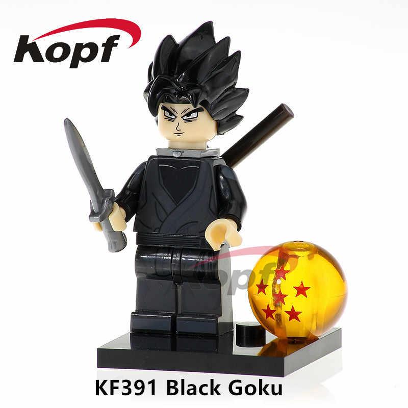 Única Venda Super Heróis SSJ3 Goku Dragon Ball Z Figura Vegeta Super Sayayin Freiza Deus Blocos Crianças Brinquedos de Presente KF984
