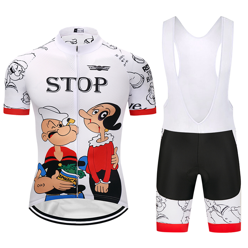 Crossrider 2019 cartoon short cycling jersey MTB clothing bicycle clothes Breathable men bib set gel Maillot Culotte sports suit