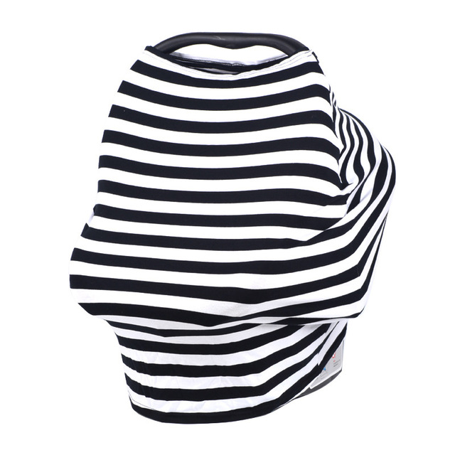Baby Feeding Cover Cotton Nursing Cover Breastfeeding Scarf 2018 New Striped Car Seat Canopy Infant Baby Trolley Cover