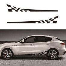 2 шт. 2 м наклейки для автомобиля DIY двухсторонние наклейки гоночные полосы камуфляжные изделия для автомобилей виниловая пленка автомобильные аксессуары
