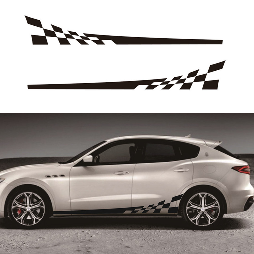 2pcs 2M Car Stickers DIY Both Sides Decals Race Stripes Camouflage Automobiles Products Car Wrap Vinyl Film Car Accessories