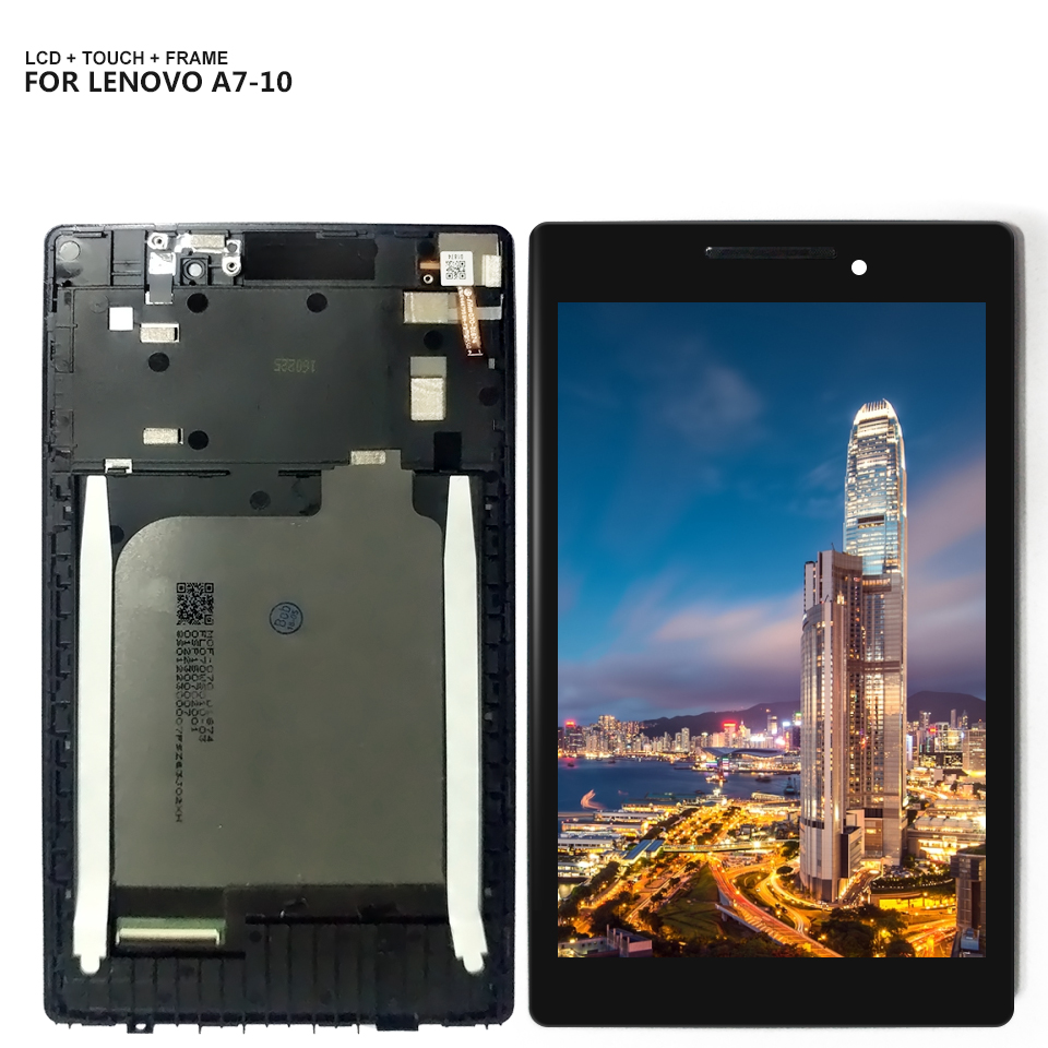 For Lenovo Tab 2 A7-10 A7-10F A7-20 A7-20F LCD display touch screen digitizer Glass assembly with Frame Free Tools original full lcd display touch screen digitizer glass assembly for lenovo tab 2 a7 30 a7 30gc free shipping