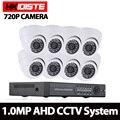 Hkixdiste дома 8ch CCTV Системы 1080 P HDMI DVR 720 P 2000tvl Крытый Купол CCTV Камера набор Главная Безопасность Системы комплект видеонаблюдения