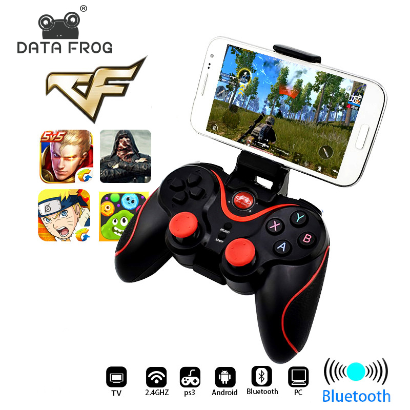 Data Frog Bluetooth Wireless Gamepad Game Controller For PS3 TV PC Laptop Joystic For Iphone Android SmartPhone ControllerData Frog Bluetooth Wireless Gamepad Game Controller For PS3 TV PC Laptop Joystic For Iphone Android SmartPhone Controller