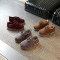 2017 Новый Для Детей Kid Fashion Shoes Комфорт Квартиры Shoes Antislip Кроссовки Нубук Кожа Для Мальчиков и девочек Shoes