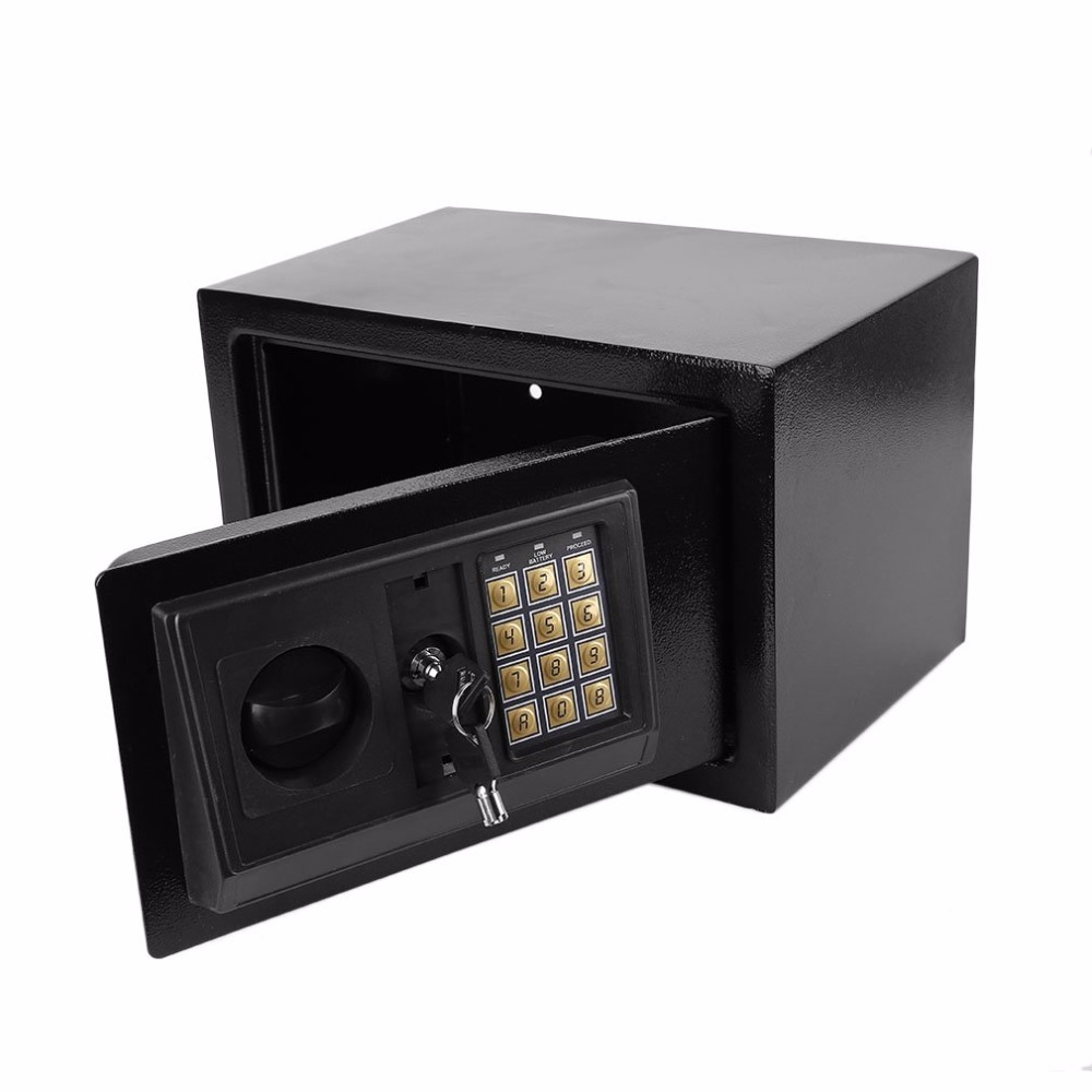 Electronic Safe box Household Wall Security Box Keypad Lock box Deposit Safes keep Money gun Jewellery Cash Safe home office use