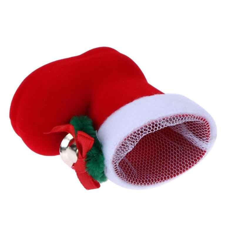 1PC Feliz Navidad Mini botas de caramelo zapatos de regalo decoración de árbol de Navidad casa medias Año Nuevo decoración caja de regalo los titulares