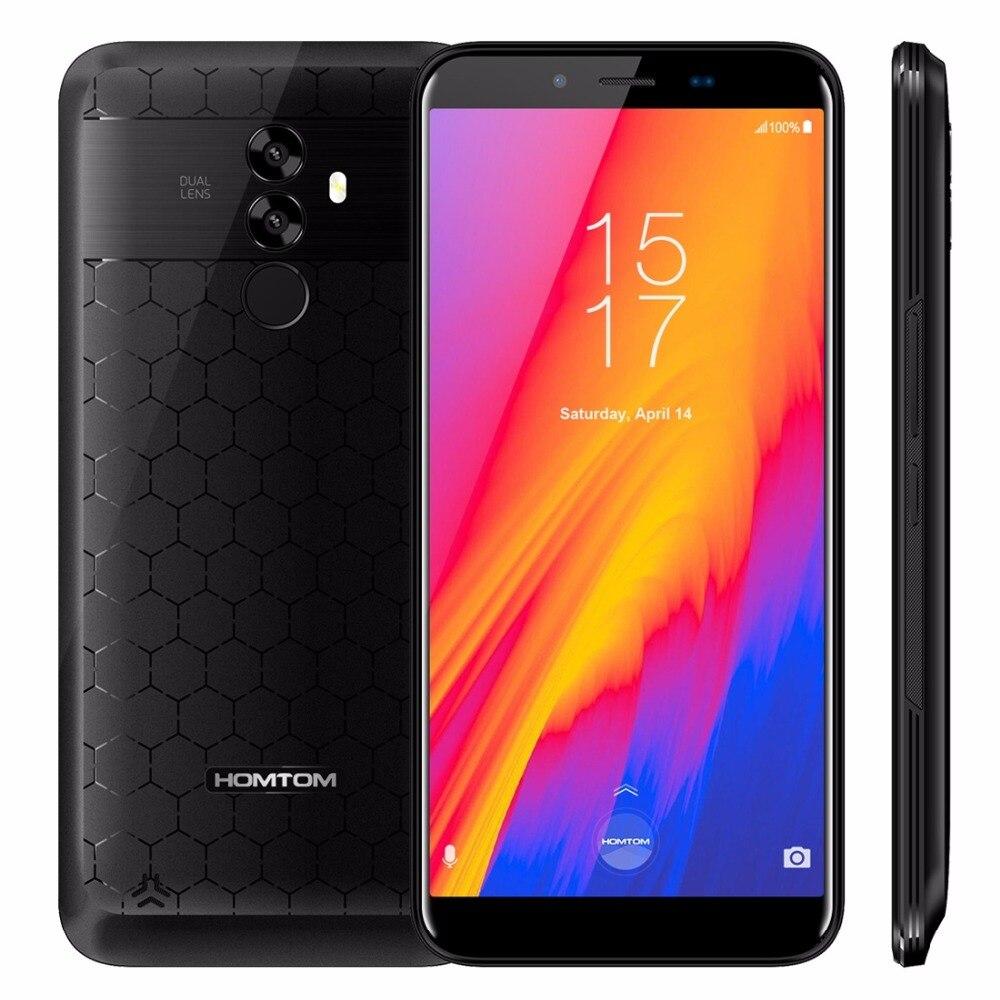 HOMTOM S99 LTE 5.5 incell HD + 18:9 Telemóvel MTK6750 64 4 gb RAM gb ROM Núcleo octa face ID 6200 mah 16MP Impressão Digital Smartphone