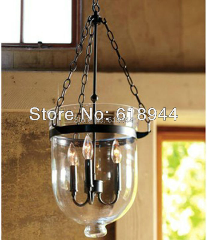 Aliexpress Buy American Country Glass Pendant Lamp For Dining Room Light Fitting Wrought Iron Rustic Antique Vintage From Reliable