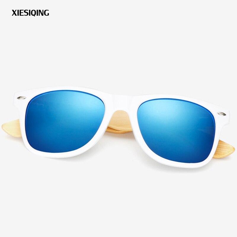 2019 Neue Mode Damen Herren Bambus Holz Sonnenbrille Weiß Rahmen Brillen Mit Beschichtung Mirrored Uv 400 Schutz Linsen Quell Sommer Durst