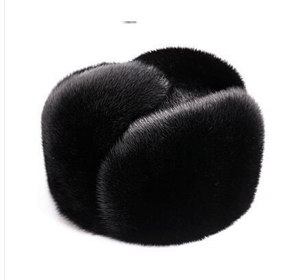 luxury mink fur casual bomber cap - novariancreations.com