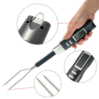 Free Shipping LCD Programmed Digital Oven Grilling Roasting BBQ Meat Thermometer