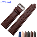 Calidad de cuero genuino correa de reloj 12mm 14mm 16mm 18mm 19mm 20mm 22mm para tissot reloj para hombre para mujer para casio marca general
