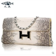 yuanyu 2016 new  lizard skin leather women handbag single shoulder bag envelope bag inclined one shoulder bag chain bag lady