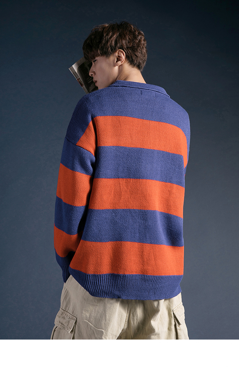 Korean Turtleneck Sweater Men Pullover Streetwear (15)