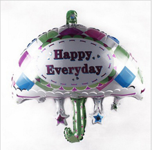 Small umbrella shape happy font b everyday b font foil balloon inflatable fashion birthday balloon with