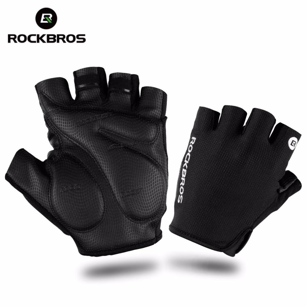 ROCKBROS Hiking <font><b>Gloves</b></font> Half Finger Camping Climbing Tactical <font><b>Gloves</b></font> Shockproof Breathable MTB Bike Bicycle <font><b>Gloves</b></font> For Men Sports