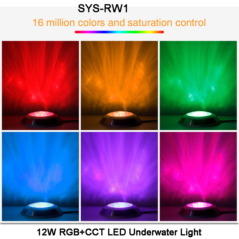 Realistic Milight Dc24v 12w Sys-rw1 Rgb+cct Led Underwater Light Waterproof Ip68 Led Lamps sys-t1 1 Ch Host Controller,sys-t2 1 Ch Signal Power