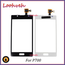 "High Quality 4.3"" Touch Screen For LG Optimus L7 P700 P705 P708 Digitizer Front Glass Lens Sensor Panel(China)"