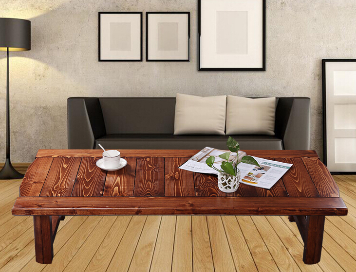japonais antique table basse rectangle 9048 cm pliant jambes asiatique mobilier traditionnel salon solide table en bois pour manger dans tables basses de - Table Japonaise Basse