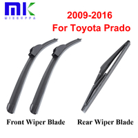 Group Silicone Rubber Front And Rear Wiper Blades For Toyota Prado 2009 Onwards Windscreen Windshield Wipers