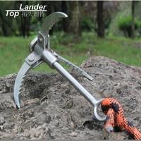 Folding Outdoor Rock Climbing Carabiner Grapping Hook Mountain Ice Tree Climbing Claws Survival Escape Gear