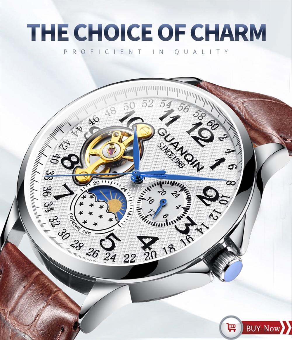 HTB11mCYa8SD3KVjSZFqq6A4bpXa3 GUANQIN 2019 new watch men waterproof Automatic Luminous men watches top brand luxury skeleton clock men leather erkek kol saati