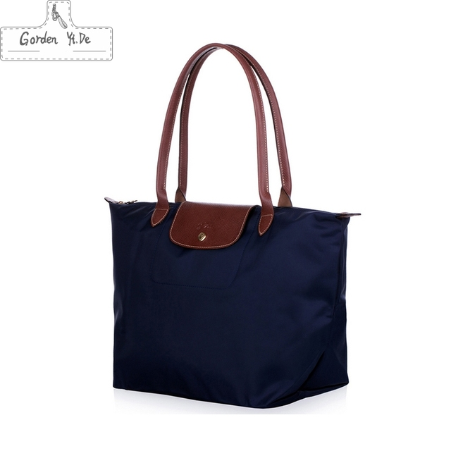Equipaje bolsas de viaje 2016 de La Moda bolsa de lona con cremallera de Nylon impermeable Plegable Bolsa de Viaje Azul Paquete de Almohada organizadores # GYD0164