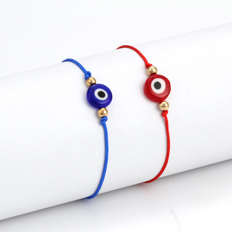 Turkish Lucky Black Evil Eye Bracelets For Women Handmade Braided Red String Bracelet Female Rope Jewelry