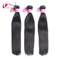 XBLHAIR Brazilian Human Hair Straight 100 Remy Human Hair Extensions 1 Bundle Natural Color 8 28