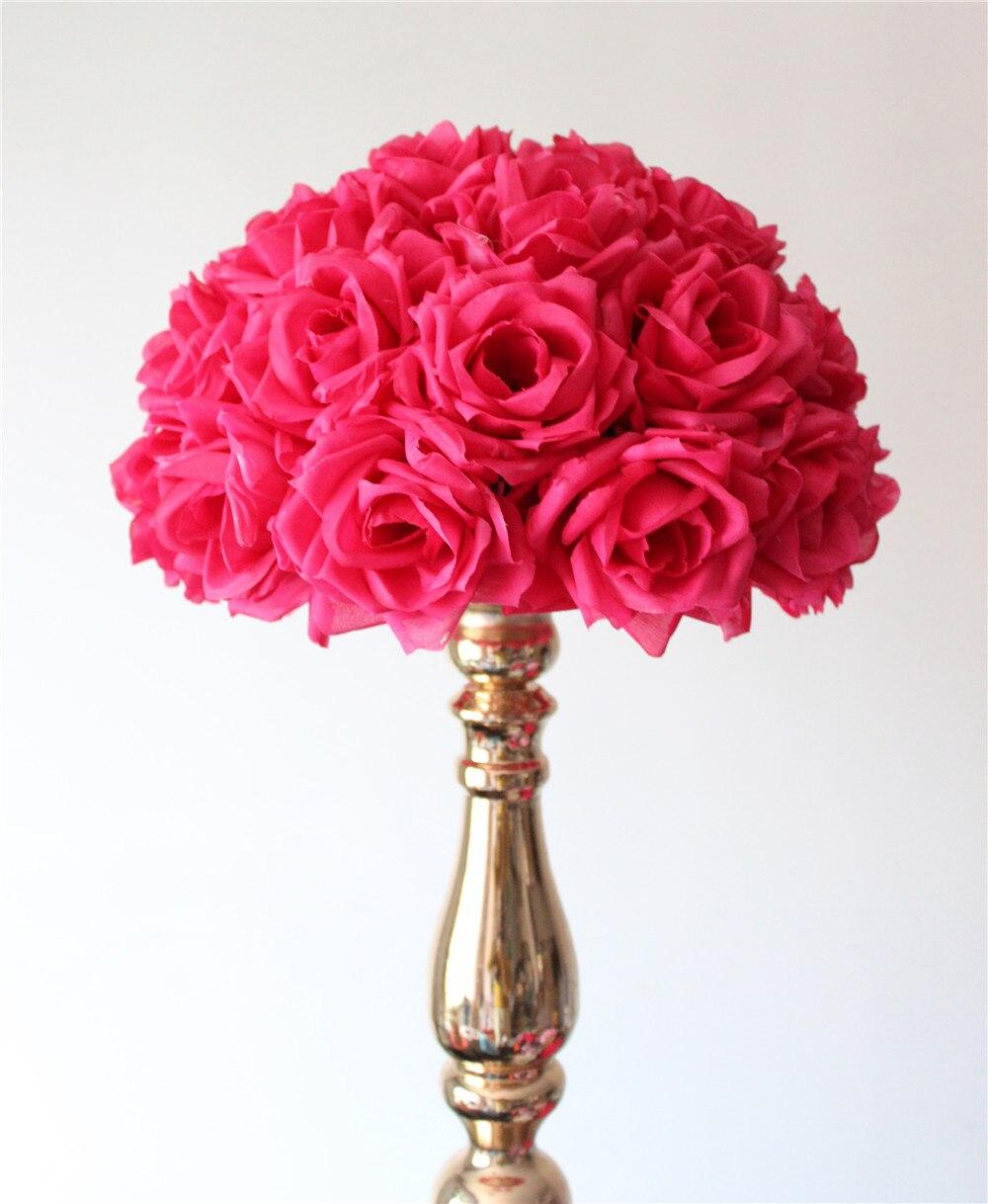 Online get cheap fuschia wedding bouquet aliexpress alibaba 55cm2pcslot plumfuschia hanging flower ball centerpieces silk rose wedding kissing ball pomanders mint decoration ball dhlflorist Gallery