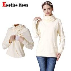 Emotion Mom cuello alto embarazo maternidad ropa lactancia superior ropa para mujeres embarazadas maternidad tops y camisa