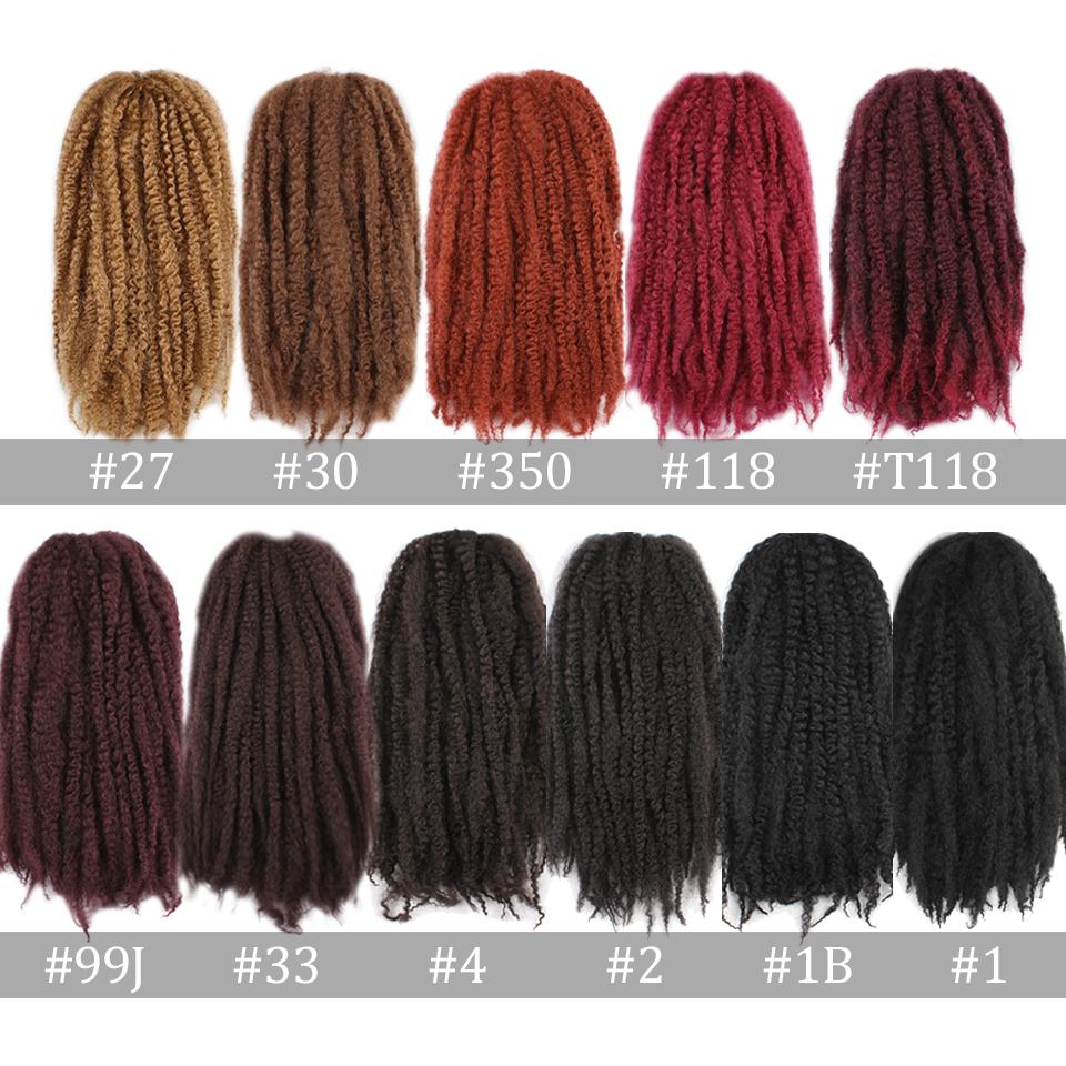 synthetic Kinky Twist Hair Color Hair Crochet Braid