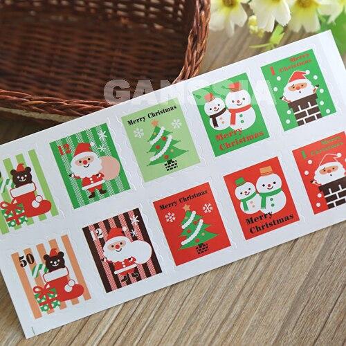 72e06e919ce Nº100 unids lote Navidad serie sello diseño kawaii regalo (ss-1341 ...