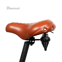Deemount Bicycle Saddle Excel In Shock Reduction Sturdy Built Extra Thick Extra Wide PU Silicone Foam