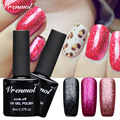 Vrenmol 1pcs Platinum UV Nail Gel Polish Long-lasting Fingernail Gel Semi Permanent Colorful Shining Soak Off Lacquer