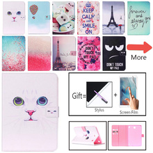 SM-T355 Case For Samsung Galaxy Tab A 8.0T350 T355 P350 Cover Smart Case Funda Fashion painted Silicone PU Leather Stand Shell fashion business pu leather stand case for samsung galaxy tab a 8 0 sm t350 p350 p355 t355c t355 8 0 inch tablet cover