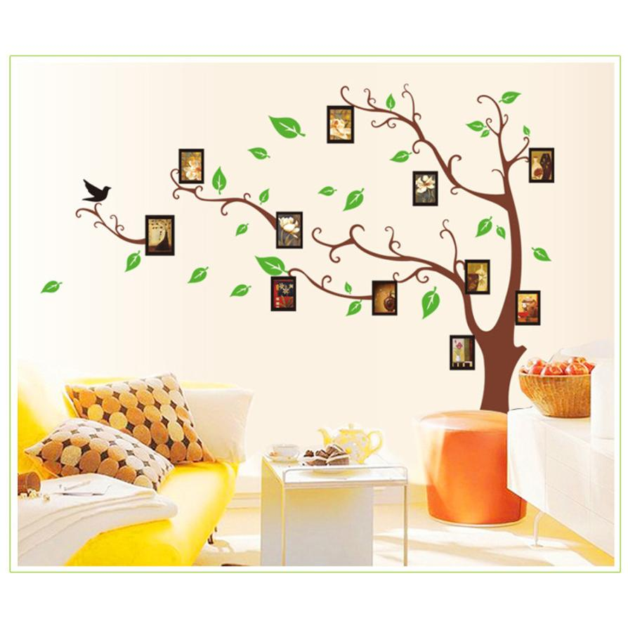 Permalink to Home Decor 3D DIY Photo Tree PVC Wall Decals Adhesive Wall Stickers Mural Art Home Decor wall sticker Home Deco mirror AU1
