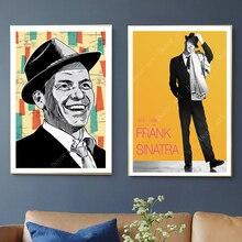 Arte Pop Frank sinatria música cantante pinturas de lienzo pared vintage Kraft carteles recubiertos pegatinas de pared fotos de decoración del hogar regalo