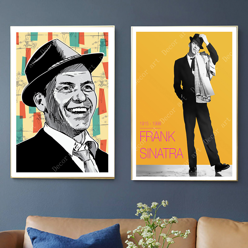 pop kunst frank sinatra musik sanger leinwand gemalde vintage wand kraft poster beschichtete wall aufkleber home decor bilder geschenk