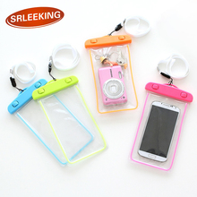 SRLEEKING 6 inch Luminous outdoor waterproof phone bags PVC material fashion touch mobile