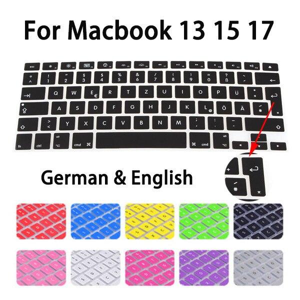 European German Letters Keyboard Protector For Macbook Air