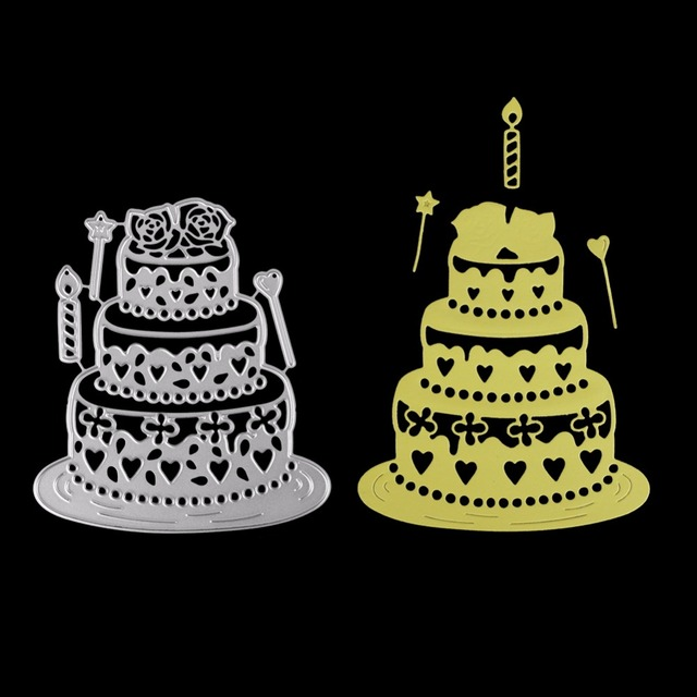 9786MM Multi Layer Birthday Cake Metal Dies Cutting Embossing Scrapbooking Steel Craft Die Cut Create Stamps Card Stencil