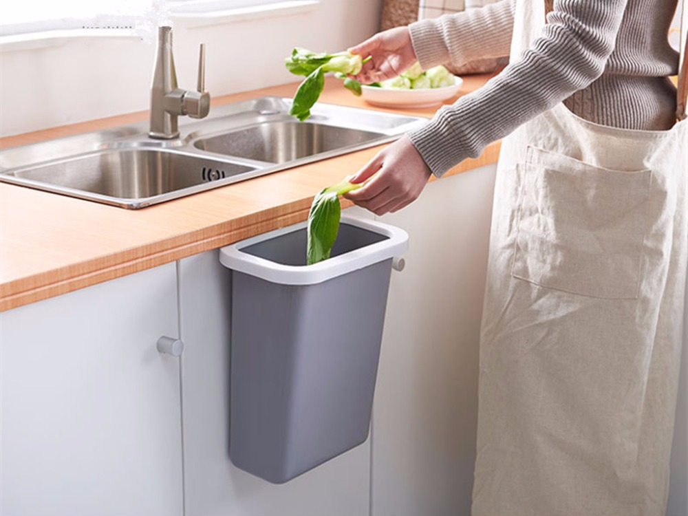Kitchen Waste Basket Holder: High Quality PP Material Kitchen Trash Bin Sundries