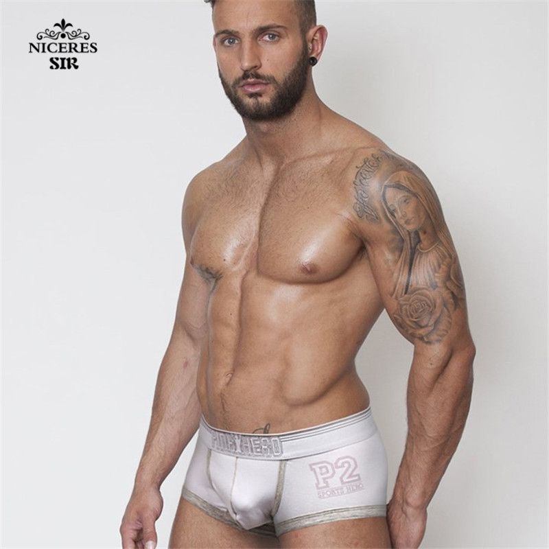 PINK HERO men underwear wholesale Men's Boxers Shorts Boy Male Underpant Solid Color Sexy Mans Underwears Fat