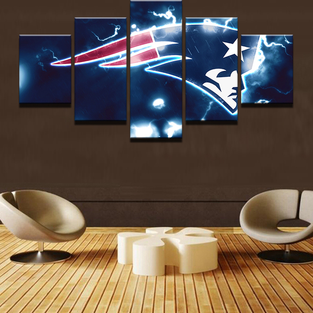 Patriots Wall Art 5 pieces sports abstract canvas wall art picture landscape canvas