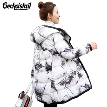 Geckoistail New Winter Womens Fashion Jacket Parkas Down Cotton Hooded Thicke Two Sided Wear Coats Casual Women Jacket Outerwear