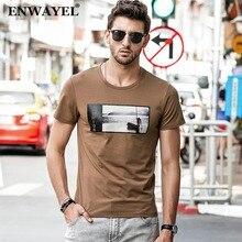 4a39d829516d ENWAYEL Marke 2018 Neue Sommer T-shirt Männer Landschaft Bild drucken  Casual Fashion Slim Fit Stretch Top Tees kurzarm baumwolle
